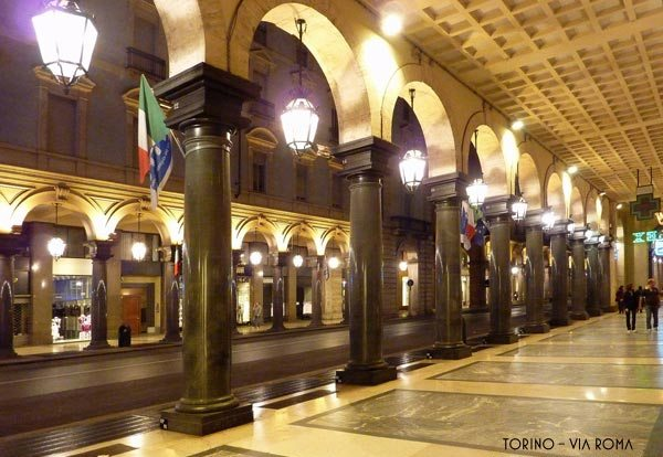 The legendary Turin arcades
